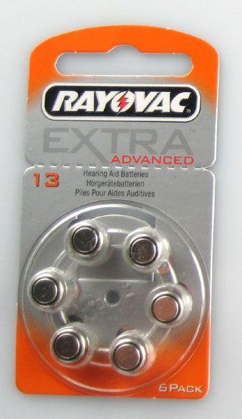 Rayovac Hörgerätebatterie EXTRA Advanced 60er Packung #13 - 4606947406