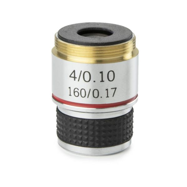 Euromex Achromatic 4x/0.10 objective for MicroBlue. Parafocal 35 mm