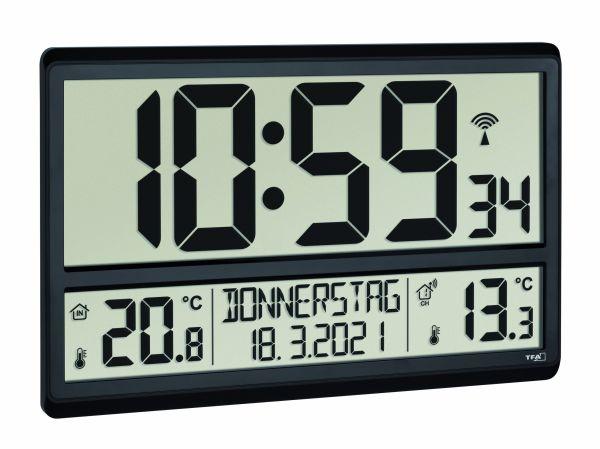 TFA Digitale XL-Funkuhr mit Raumklima 60.4520.01