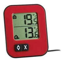 schwarz TFA Dostmann 30.2018.01 Digitales Thermometer