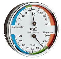 TFA Thermo- Hygrometer mit farbigen Komfortzonen 45.2040.42